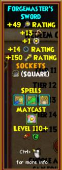 Sword Level 110