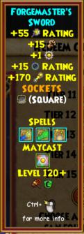 Sword Level 120