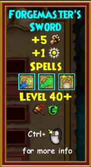 Sword Level 40