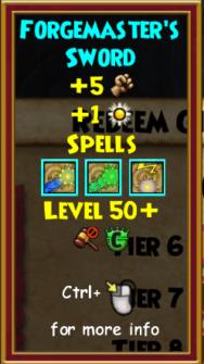 Sword Level 50
