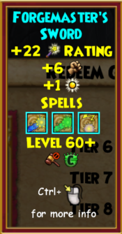 Sword Level 60