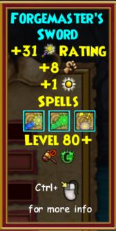 Sword Level 80