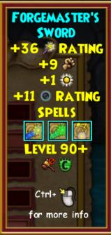 Sword Level 90